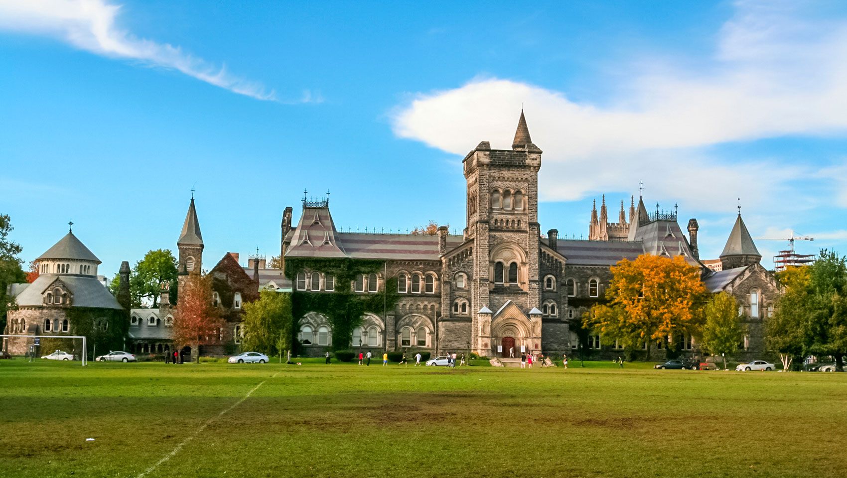 University of Toronto's grass and main hall